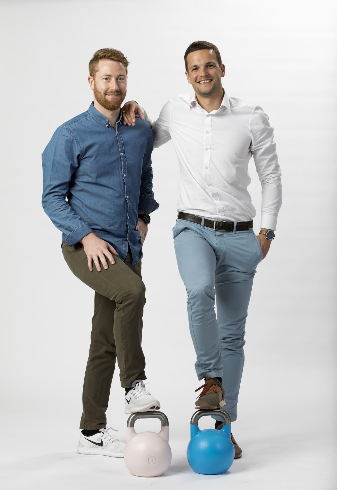 Die Trainer bei OsteoMed Freiburg: Niklas Ehmann und Philipp Frey