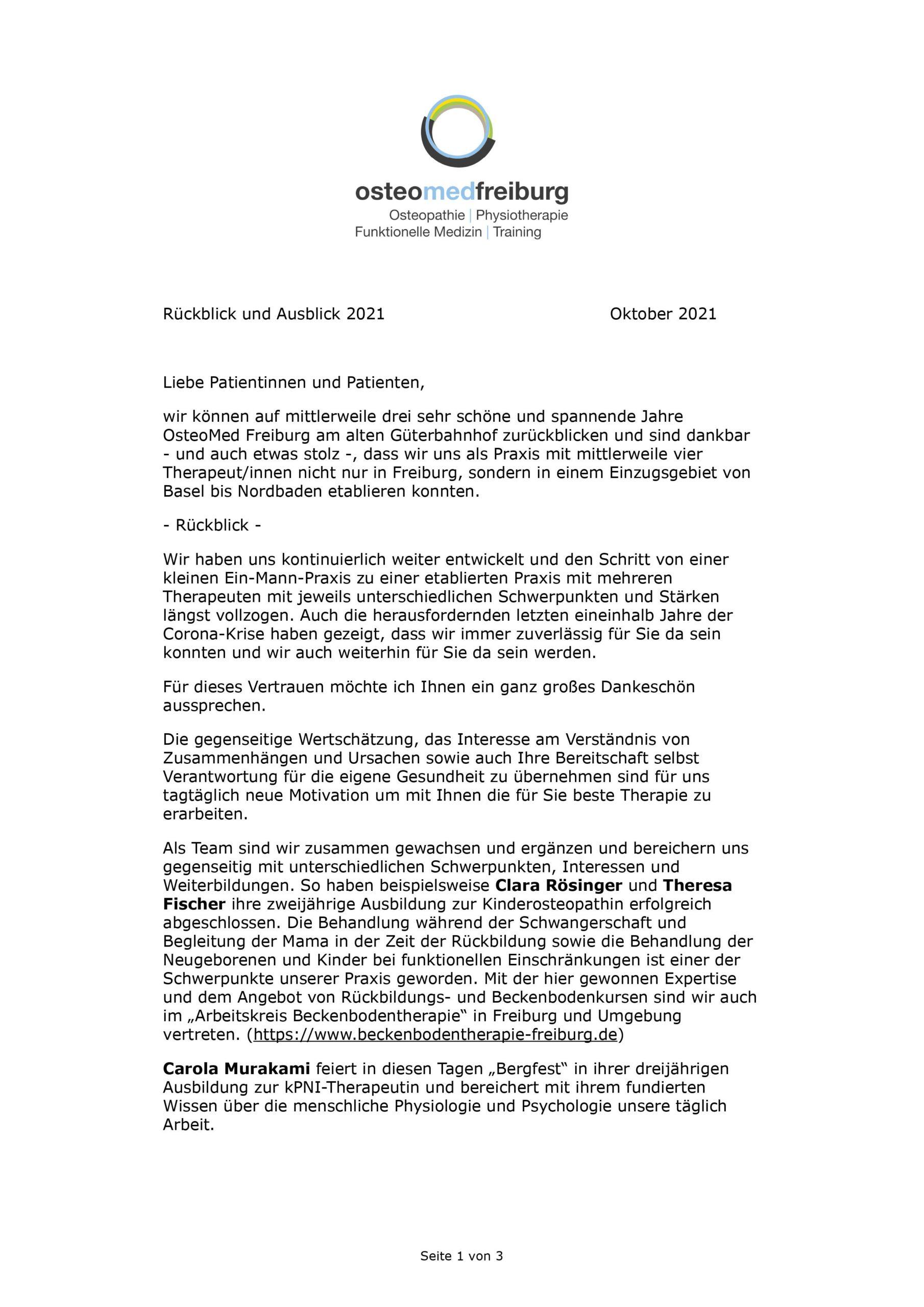 Rückblick - Ausblick - AGB 2021 1/3